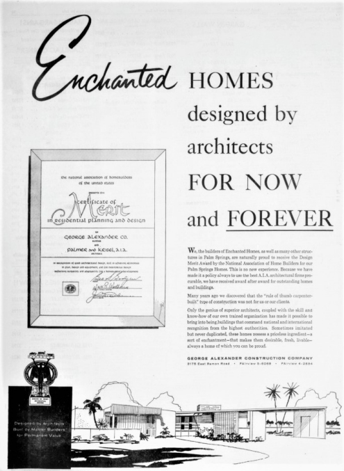 This Enchanted Homes advertisement appeared in the March 7, 1958 issue of the Desert Sun newspaper.